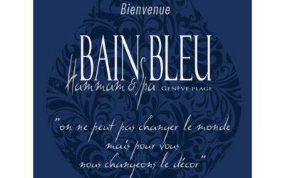 Bain bleu Genève Août 2019